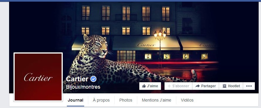 Banniere Cartier sur Facebook