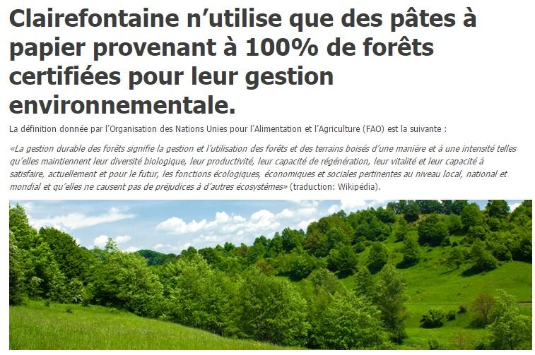 Clairefontaine, une marque engagée contre la déforestation