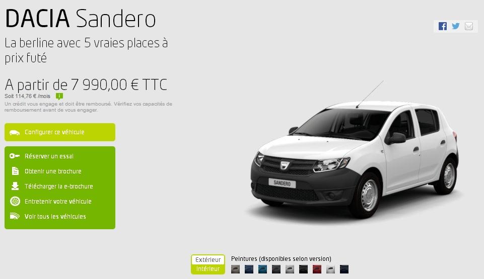 Dacia, la marque de voiture low cost