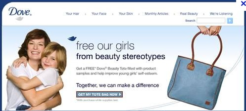 Dove home page