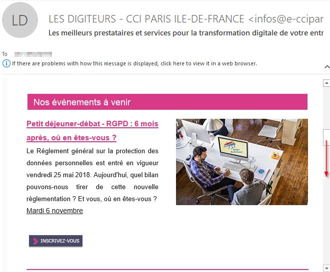 Campagne d'emailing avec un mail visuel