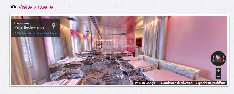 Visite à 360° du café Fauchon à Paris