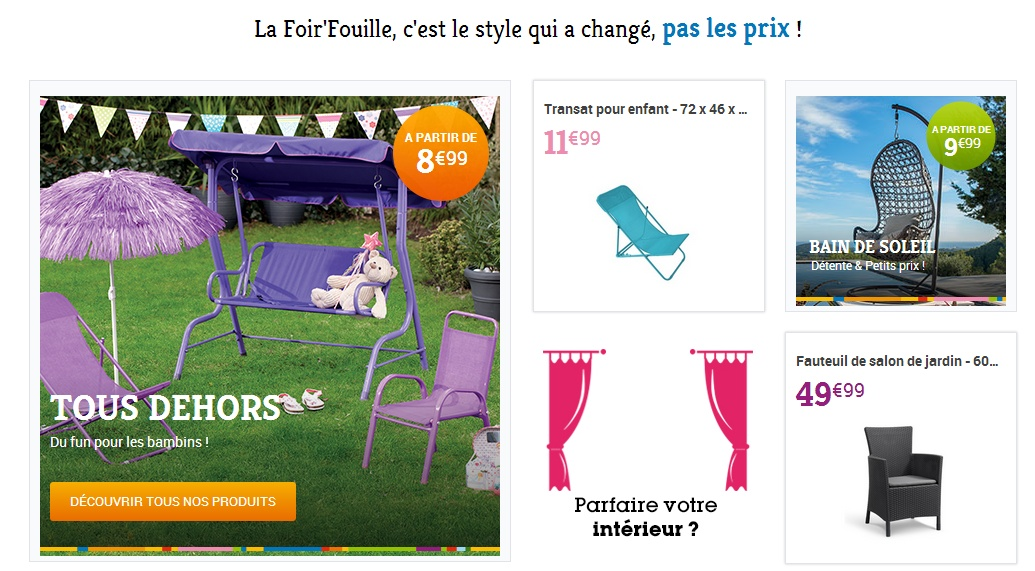 Foirfouille home - site low cost