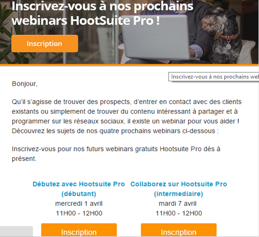 Hootsuite mailing