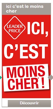 Leader Price bannière low cost