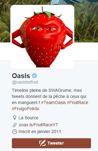 Oasis Twitter mascotte