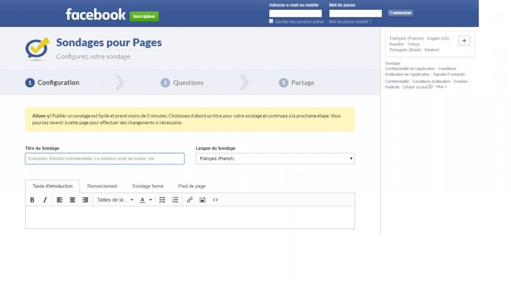 Outil facebook
