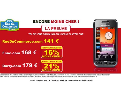 Rue du commerce publicité online low cost