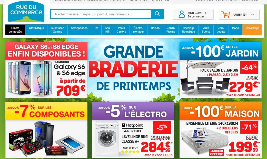 Rue du commerce site web