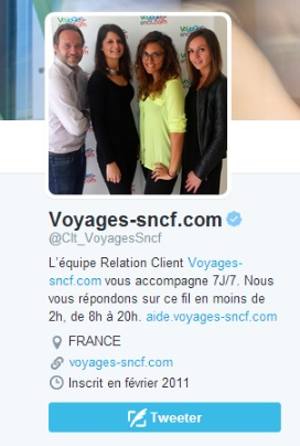 SNCF Twitter