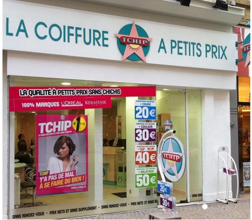 Tchip Coiffure les salons de coiffure low cost