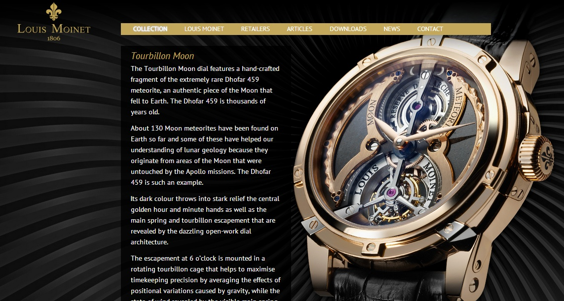 Montre de luxe Tourbillon Moon