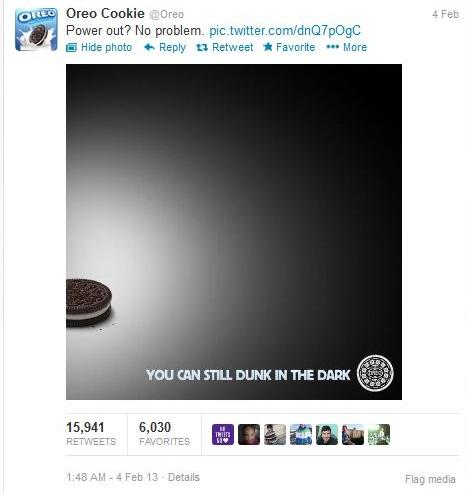 Tweet Oreo newsjacking