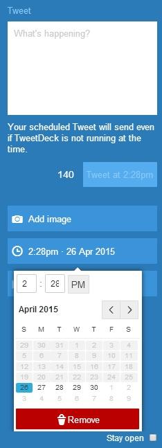 Votre community manager pourra programmer vos tweets via TweetDeck