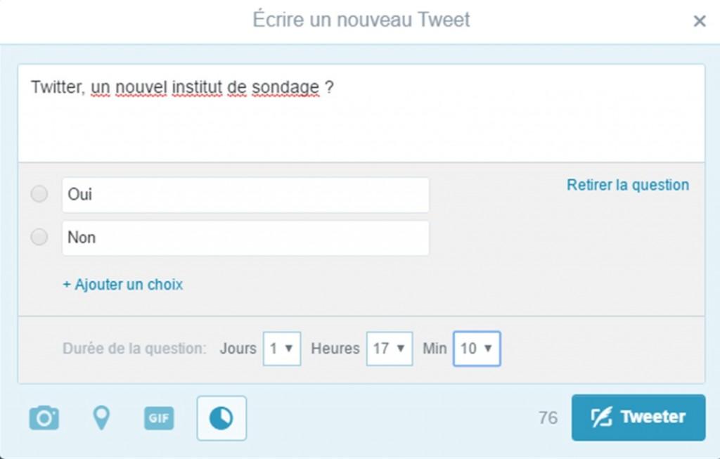 Twitter sondage