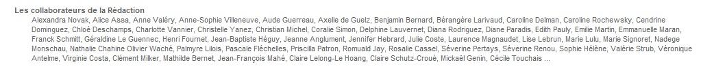Nom des contributeurs UGC Deco
