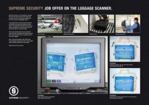 Buzz Marketing :  Une campagne de recrutement au rayon X pour Supreme Security