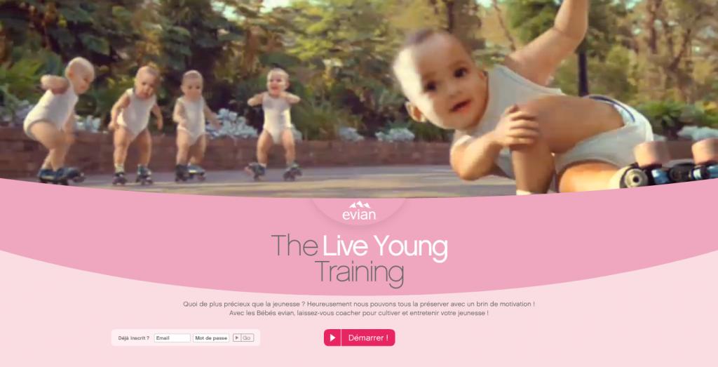 Evian : Prenez un bain de jouvence grâce  à leur nouvelle campagne de Marketing Viral