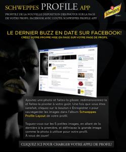 Schweppes app - social media