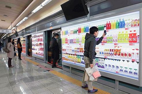Découvrez  les courses du futur dans le métro de Séoul !