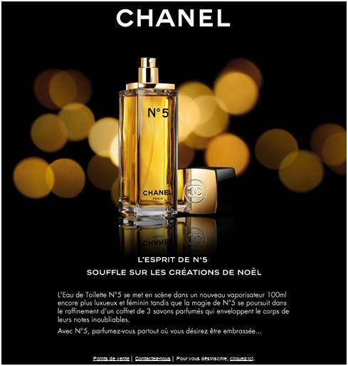 Emailing de Chanel