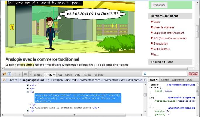 Voir le code source avec Firebug