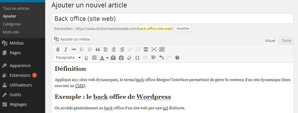 Back office site web d finition explications et alternatives agence web 1min30 inbound - Back office site internet ...