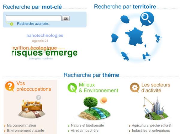 Exemple de site portail: portail environnement