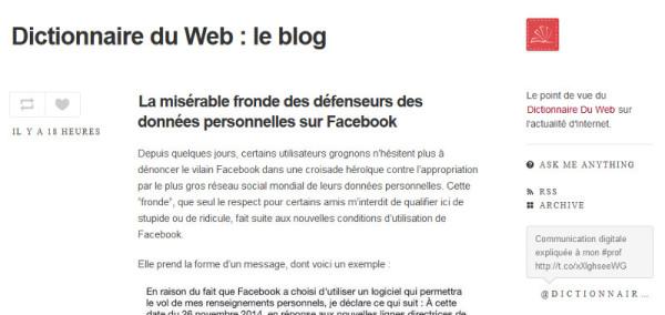 blog du dictionnaire du web