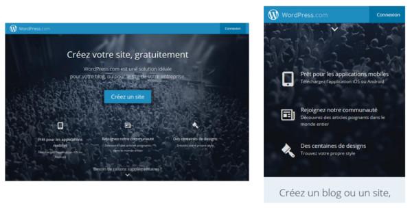 Exemple de site responsive
