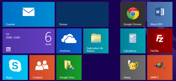 Flat design : interface windows 8