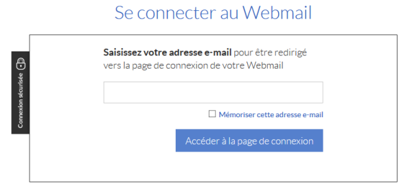 Interface de connection au webmail