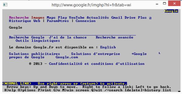 Page Google Sous Lynx