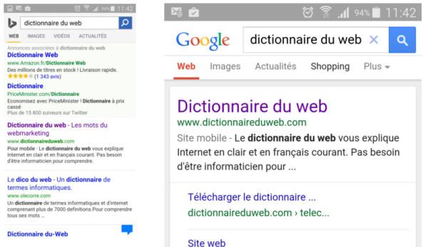Référencement mobile Google et Bing