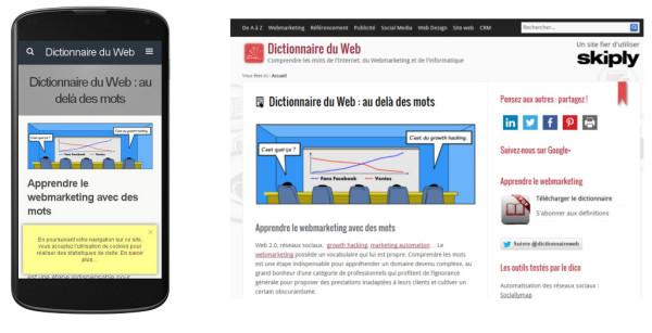 Site mobile vs desktop