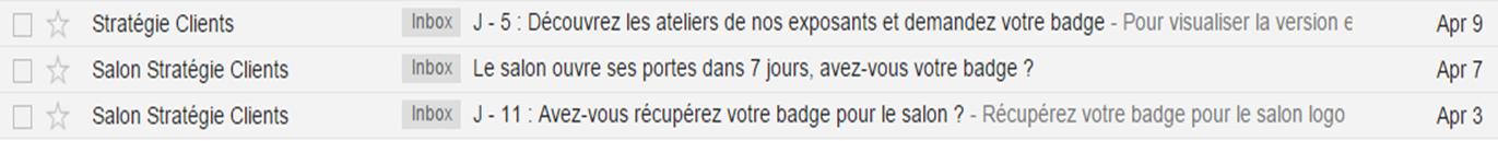 emailing relance action non validée