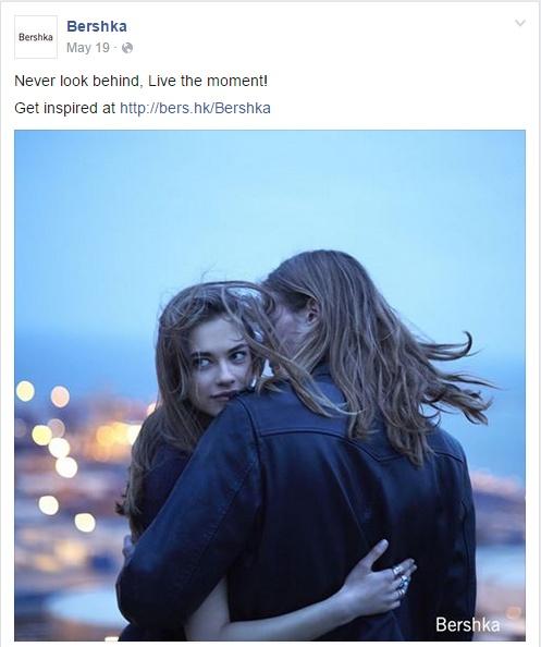 Exemple de post sur le compte Facebook de Bershka