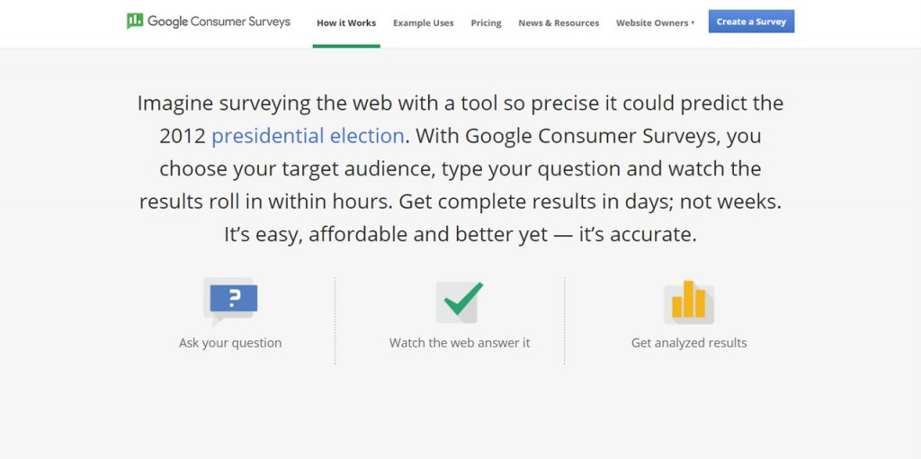 google consummer survey