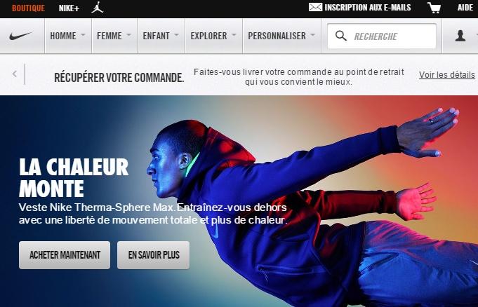 La home de Nike avec le décathlonien Ashton Eaton