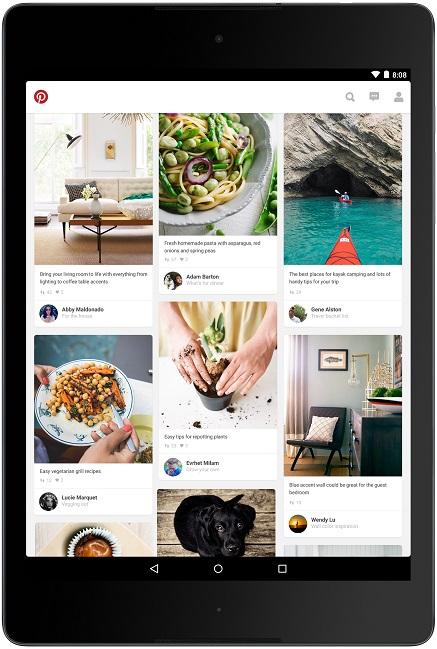 Interface Pinterest