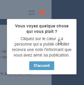 Tumblr explique les boutons au fur et à mesure lors de la 1ère navigation (1)